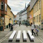 Aarhus'ta üç boyutlu yaya geçidi uygulaması başladı
