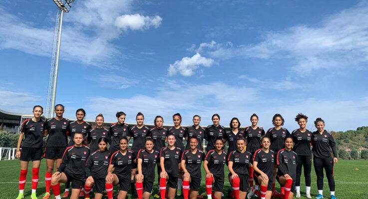 Türkiye U19 Kadın Milli Takımı Danimarka'ya geldi