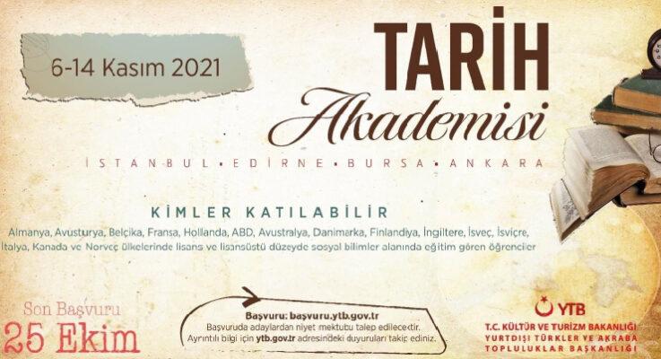 Avrupa üniversitelerinde eğitim gören gençlere Türkiye'de tarih gezisi