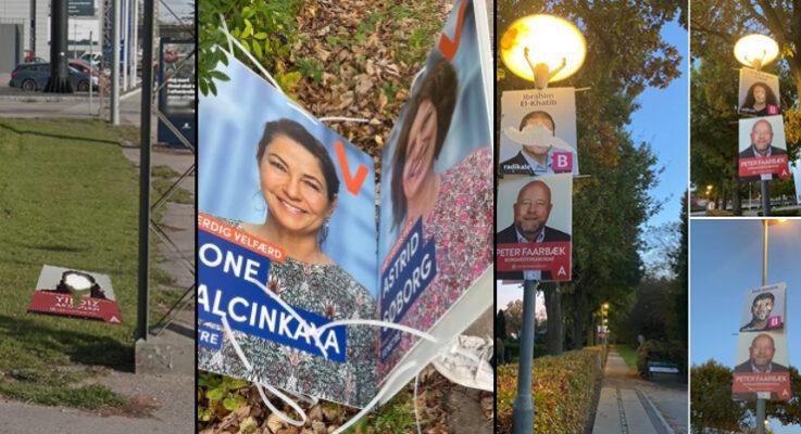 Danimarka'da bazı göçmen kökenli adayların seçim afişleri tahrip edildi