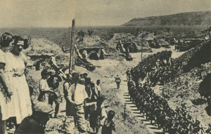 1936 yılında Montreux Konferansında Türkiye'nin boğazlarda asker bulundurmasını hakettiği, Türk birliklerinin Çanakkale boğazındaki mevzilerine halkın coşkulu alkışlarıyla girişi